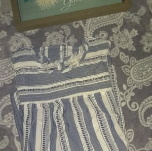 Knox Rose blue and white striped tank top